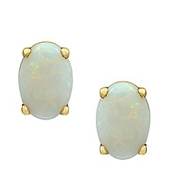 Effy® 14K Yellow Gold Opal Earrings