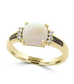 Effy® 14K Yellow Gold Diamond And Opal Ring