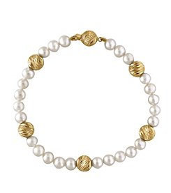 Effy® 14K Yellow Gold Cultured Freshwater Pearl Bracelet