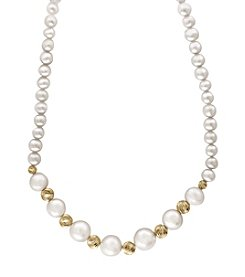 Effy® 14K Yellow Gold Cultured Freshwater Pearl Necklace