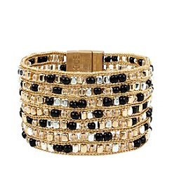 Kenneth Cole® Woven Bead Multi Row Bracelet