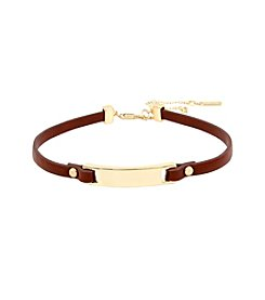Kenneth Cole® Leather Choker Necklace