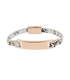 Kenneth Cole® Snake Leather Bracelet