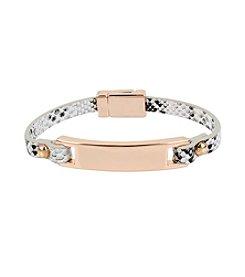 Kenneth Cole® Snake Leather Bracelet