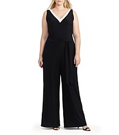 Lauren Ralph Lauren® Plus Size Sleeveless V-Neck Jumpsuit