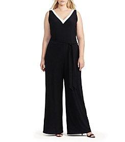 Lauren Ralph Lauren® Plus Size Sleeveless V-Neck Jumpsuit