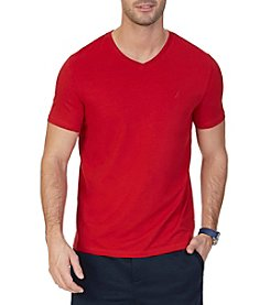 Nautica® Men's Short Sleeve Solid V-Neck Tee
