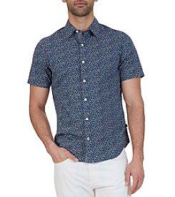 Nautica® Men's Classic Fit Micro Floral Print Short Sleeve Shirt