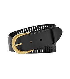 Fossil® Claire Embossed And Perforated Belt