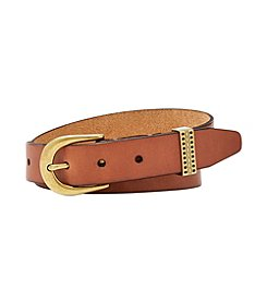 Fossil® Emi Embossed Keeper Belt