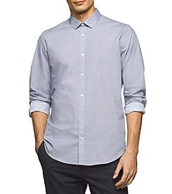 Calvin Klein Men's Long Sleeve Micro Square Shirt