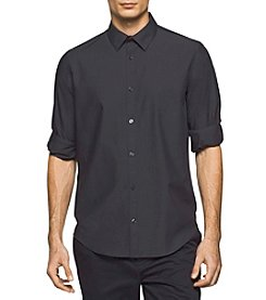 Calvin Klein Men's Long Sleeve Woven Roll Tab Shirt