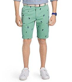 Izod® Men's Flat Front Pineapple Schiffli Shorts