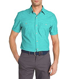 Izod® Men's Saltwater Chambray Short Sleeve Woven Shirt