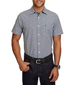 Nautica® Men's Classic Fit Maritime Check Short Sleeve Shirt