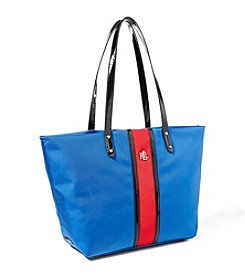 Lauren Ralph Lauren® Bainbridge Nylon Stripe Tote