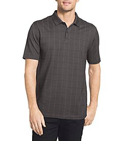 Van Heusen® Men's Big & Tall Short Sleeve Windowpane Polos