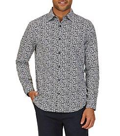 Nautica® Men's Classic Fit Leaf Print Button Down Shirt