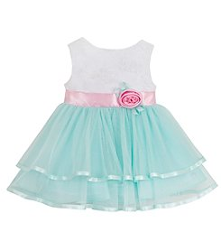Rare Editions® Baby Girls' Mesh Skirt Dress