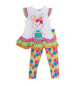 Rare Editions® Baby Girls' Easter Bunny Shirt & Leggings Set