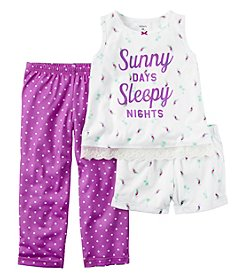 Carter's® Girls' 3-Piece Sunny Days Pajama Set