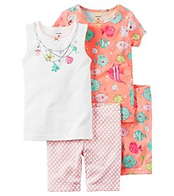 Carter's® Girls' 4-10 4-Piece Sea Fish Pajama Set