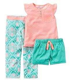 Carter's® Girls' 5-14 3-Piece Geo Print Pajama Set
