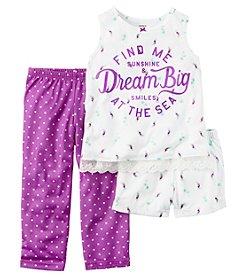 Carter's® Girls' 5-14 3-Piece Dream Big Pajama Set