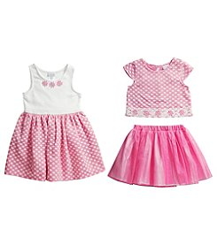 Sweet Heart Rose® Girls' 2T-6X 3-Piece Knit Dress Set