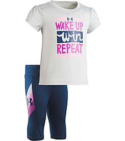 Under Armour® Girls' Wake Up Win Repeat Tee And Leggings Set
