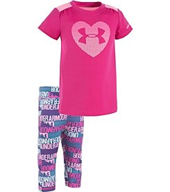 Under Armour® Baby Girls' Heart Tee And Legging Set