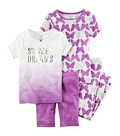 Carter's® Girls' 2T-6X 4-Piece Ombre Dreams Sleepwear Set