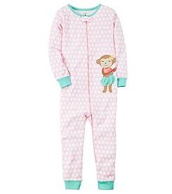Carter's® Girls' 2T-6X Monkey One-Piece Sleeper