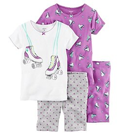 Carter's® Girls' 4-Piece Roller Skates Sleepwear Set
