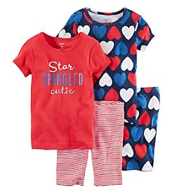 Carter's® Girls' 4-Piece Spangled Sleepwear Set