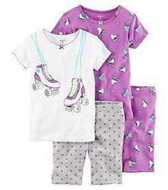 Carter's® Girls' 4-Piece Roller Skates Sleepwear Set