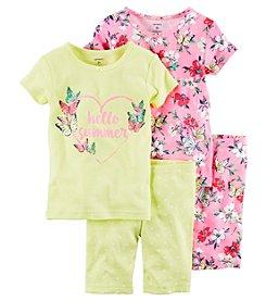 Carter's® Girls' 4-Piece Summer Sleepwear Set