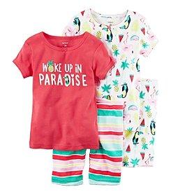 Carter's® Girls' 5-12 4-Piece Paradise Sleepwear Set