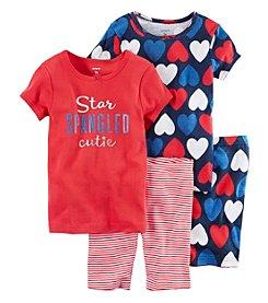 Carter's® Girls' 4-Piece Star Spangled Sleepwear Set