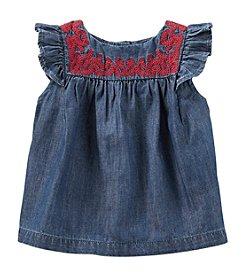 OshKosh B'Gosh® Baby Girls' 12-24 Month Embellished Neck Tank Top