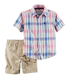 Carter's® Baby Boys Shirt-Cargo Short Set
