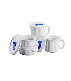 CorningWare® French White Pop-Ins 8-Pc. Round Mug Set