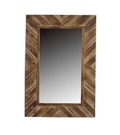 Ruff Hewn Wooden Panel Mirror