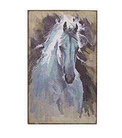 Ruff Hewn Colored Horse Portrait
