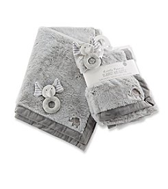 Baby Aspen Little Peanut Elephant Blanket and Rattle Set