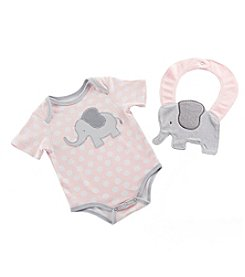 Baby Aspen Baby Girls' Little Peanut Elephant Layette and Bib Gift Set