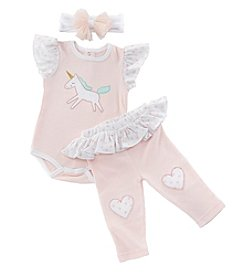 Baby Aspen Baby Girls' Simply Enchanted 3-Piece Outfit