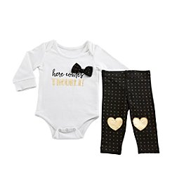 Baby Aspen Baby Girls' Trendy Here Comes Trouble 2-Piece Outfit