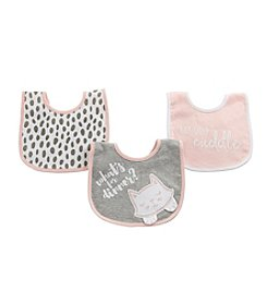 Baby Aspen Baby Girls' Trendy Baby 3-Piece Bib Gift Set