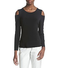 Calvin Klein Cold Shoulder Knit Top